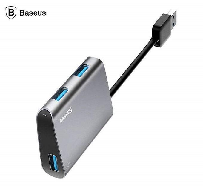 Baseus HUB Enjoyment series USB to 3xUSB 3.0 Adapter Dark Gray