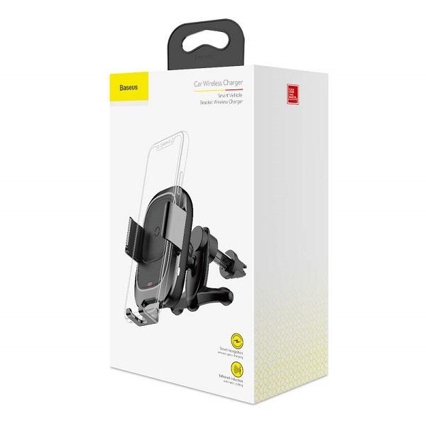 Baseus Car Mount Wireless Charger Smart Vehicle Bracket Air Vent Electric Auto Lock holder