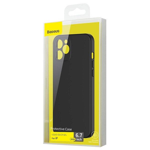 Baseus iPhone 12 Pro Max Case Liquid Silica Gel Black