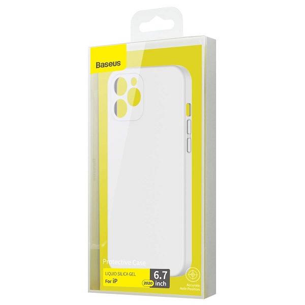 Baseus iPhone 12 Pro Max Case Liquid Silica Gel Ivory White