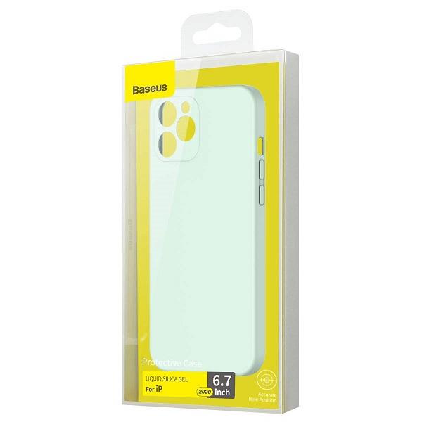 Baseus iPhone 12 Pro Max Case Liquid Silica Gel Mint Green