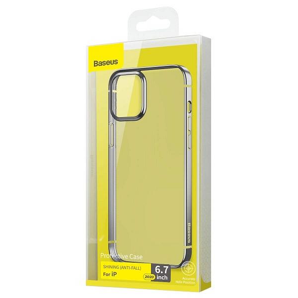 Baseus iPhone 12 Pro Max Case Shining (Anti-fall) Silver