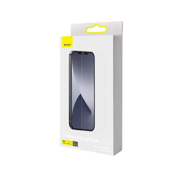 Baseus iPhone 12/12 Pro 0.3mm Full-glass Tempered Glass (2pcs) White