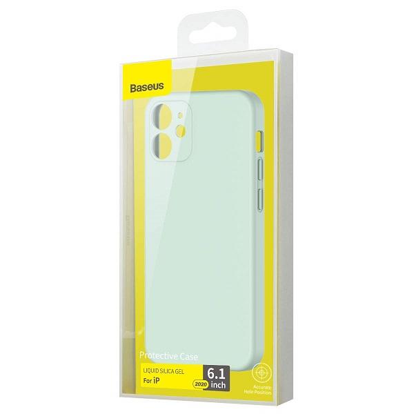 Baseus iPhone 12/12 Pro Case Liquid Silica Gel Mint Green