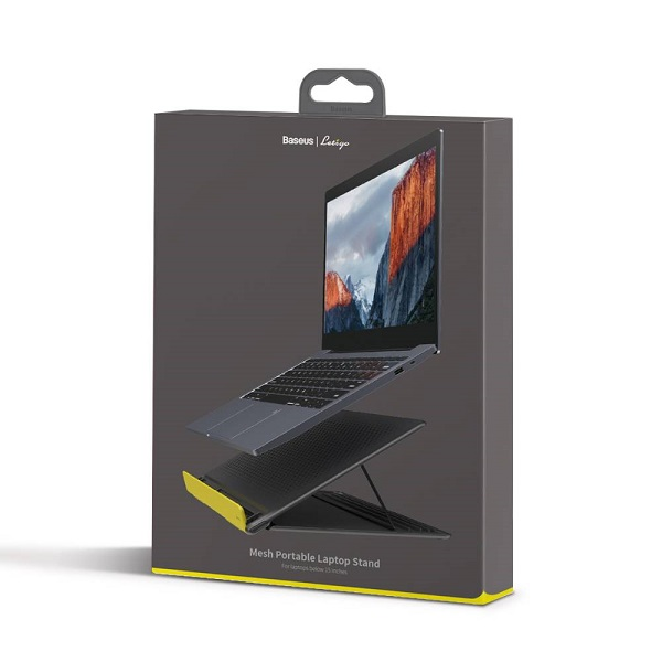 Baseus MacBook/Laptop Lets Go Mesh Portable Stand 11 to 16 inch Gray/Yellow