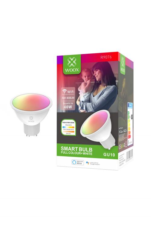 WOOX R9076 GU10 5.5W WiFi Smart LED Spot RGB & CCT