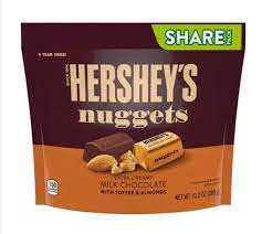 HERSHEY'S NUGGETS MILK CHOCOLATE TOFFEE & ALMOND SHARE PACK