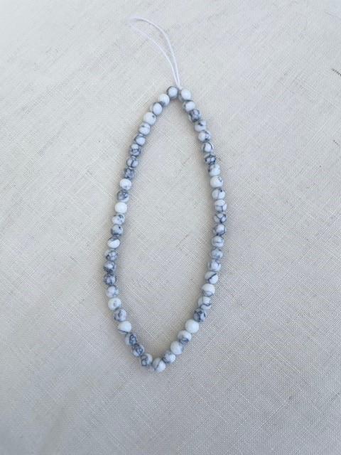 Phone charms - white/grey beads