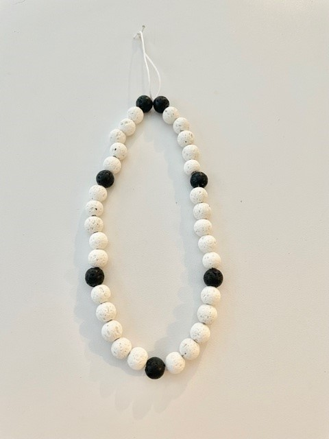 Phone charms - black and white beads
