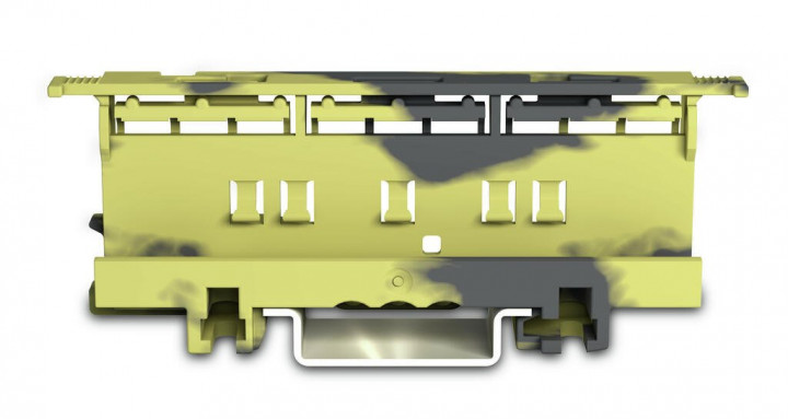 Mounting carrier for 221 Series - 6mm², dark grey-yellow - 5Pcs