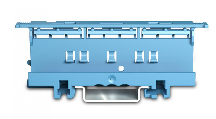 Mounting carrier for 221 Series - 6mm², blue - 5Pcs