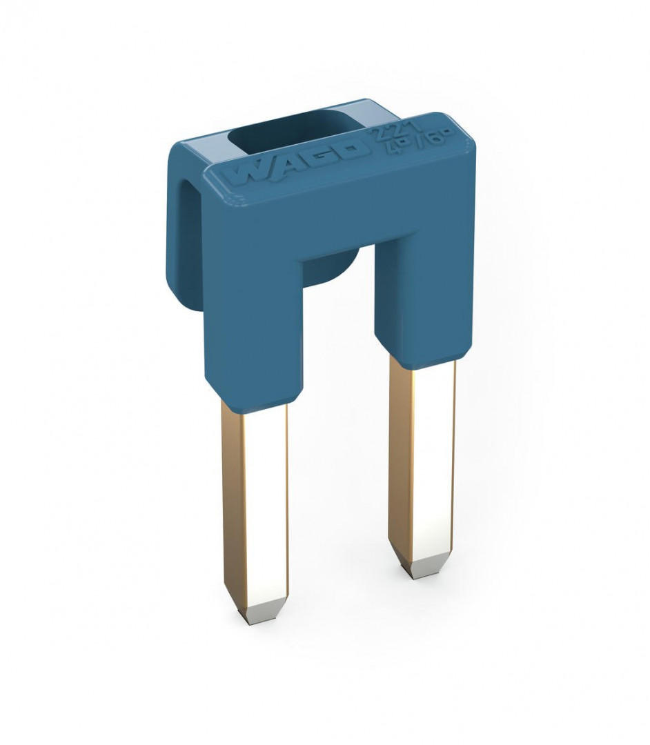 Jumper for conductor entry, 2-way, insulated, blue - 5Pcs