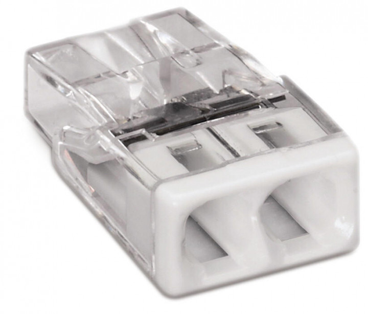 2-C COMPACT Splicing PUSH WIRE® Connector,  05-2.5mm², white - 25Pcs