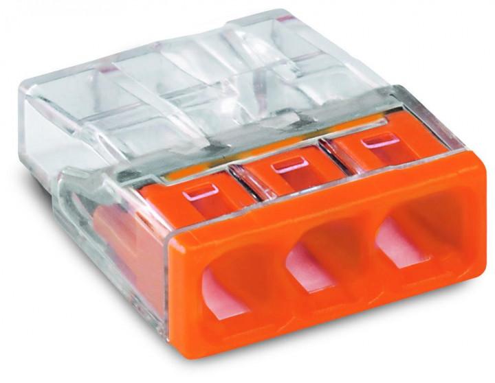 3-C COMPACT Splicing PUSH WIRE® Connector, 05-2.5mm², orange - 25Pcs