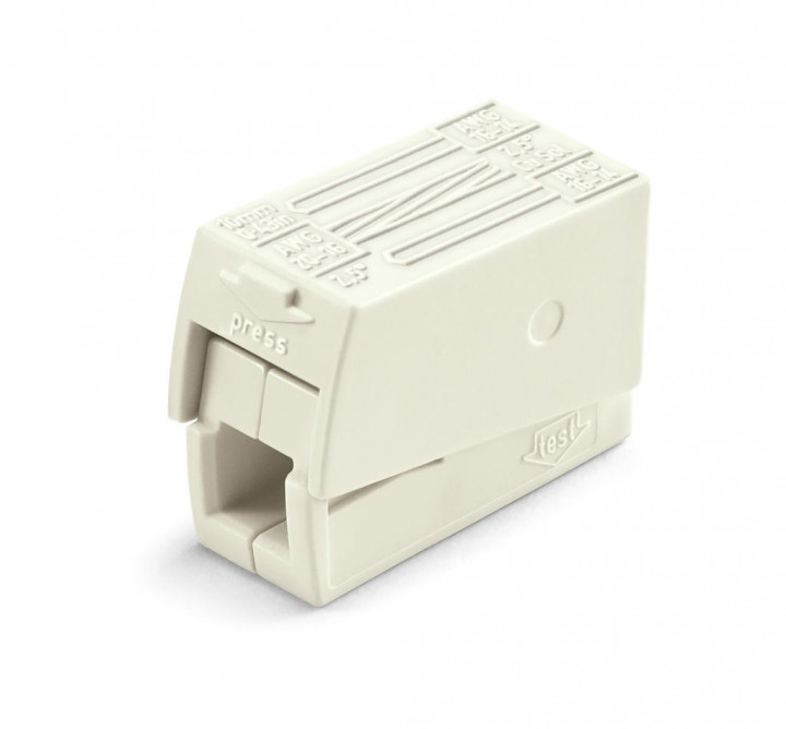 2-C Lighting Connector, white - 25Pcs