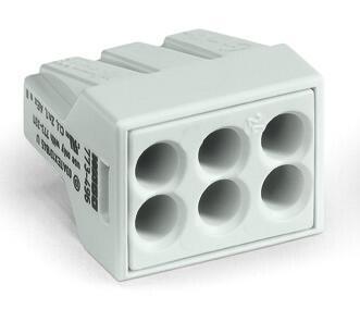6-C Connector, light grey - 25Pcs