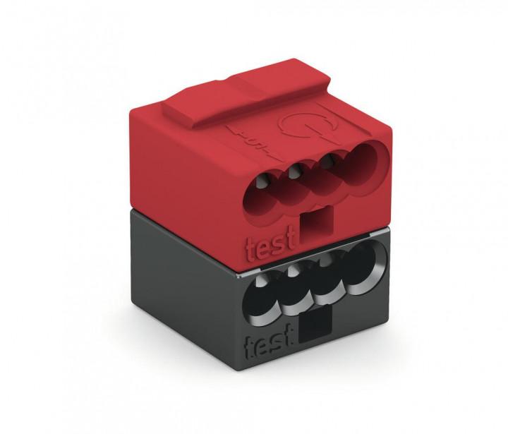 4-C Connector, 0.8mm², 2-pole, red/black - 25Pcs