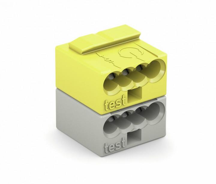 4-C Connector, 0.8mm², 2-pole, yellow/light grey - 25Pcs
