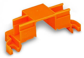 Mounting carrier for 243 Series, for 4 connectors, orange - 5Pcs