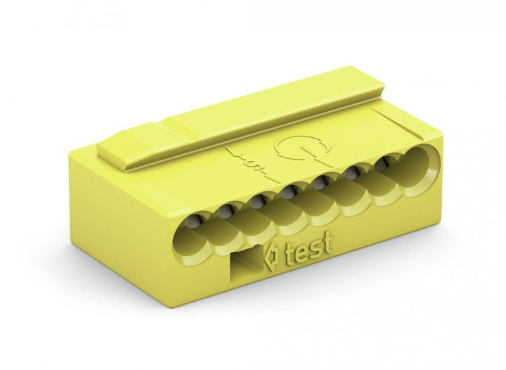 8-C Connector, 0.8mm², 1-pole, yellow - 25Pcs