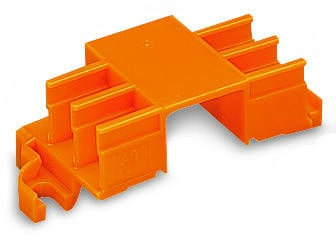 Mounting carrier for 243 Series, for 6 connectors, orange - 5Pcs