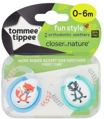 Tommee Tippee CTN  0-6M    Fun x 2