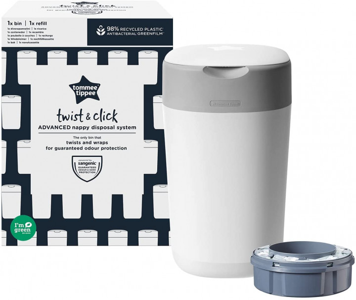 Tommee Tippee TWIST & CLICK COTTON WHITE