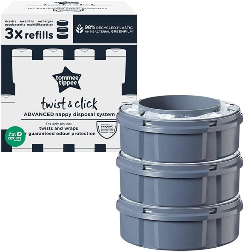 Tommee Tippee TWIST & CLICK TUB + 4 REFILL