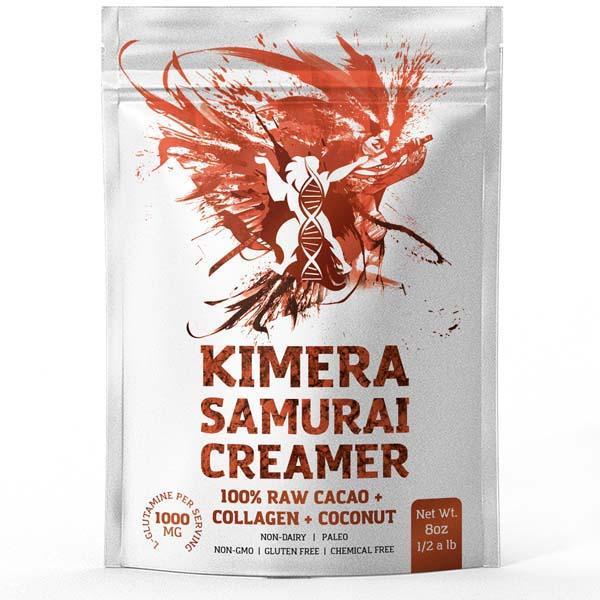 KIMERA SAMURAI SUPERFOOD LATTE - 100% RAW CACAO + COLLAGEN + COCONUT (225G)