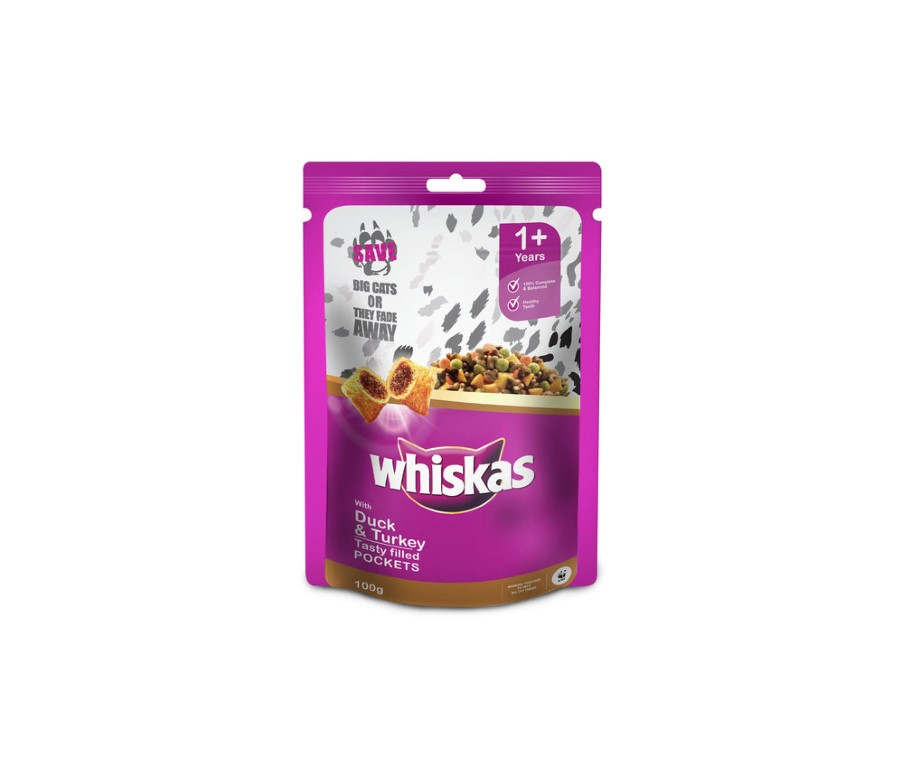 WHISKAS CAT FOOD WITH DUCK 100G