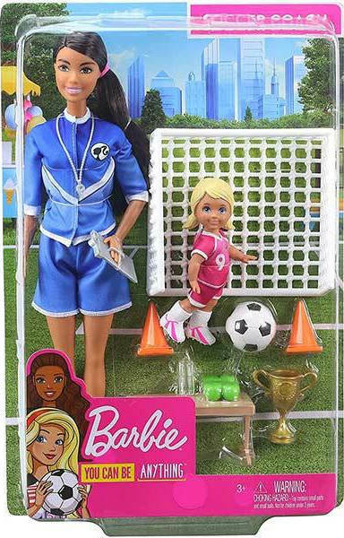 Mattel Barbie You Can be Anything: Soccer Coach Brunette Doll and Playset (GJM71)