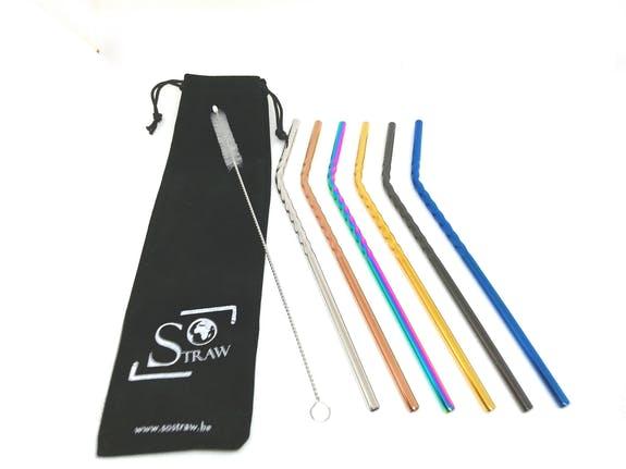 SOSTRAW FR/CAP 6PCS - MIX COLORS