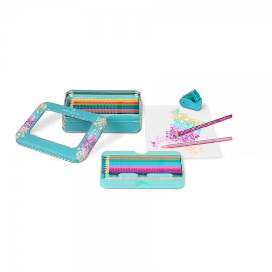 FABER-CASTELL Sparkle Colour Pencils & Metal Case