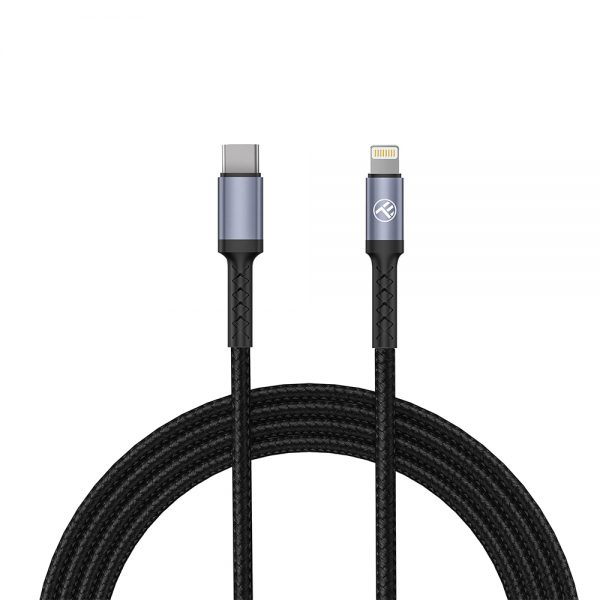 Tellur Data Cable Type-C TO  Lightning, 2A, PD18W, 1m, nylon, black