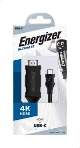 Energizer Ultimate USB-C to HDMI 4K Ultra HD Cable (2M)