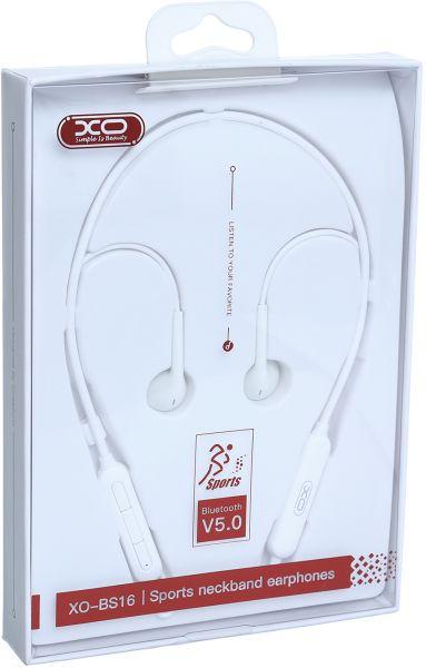 XO BLUETOOTH EARPHONES BS16 WHITE