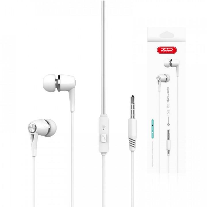 XO EARPHONES EP21 JACK 3,5MM WHITE