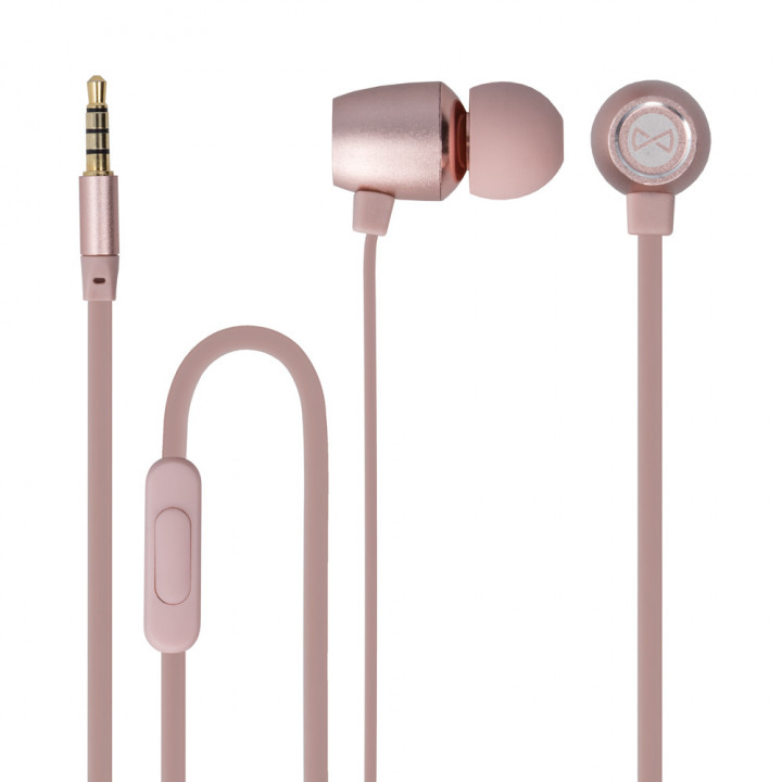 Forever wired earphones MSE-100 jack 3,5 mm rose-gold