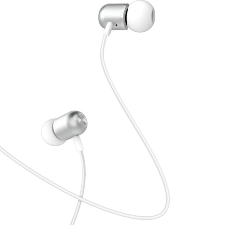 XO wired earphones EP5 jack 3,5mm silver