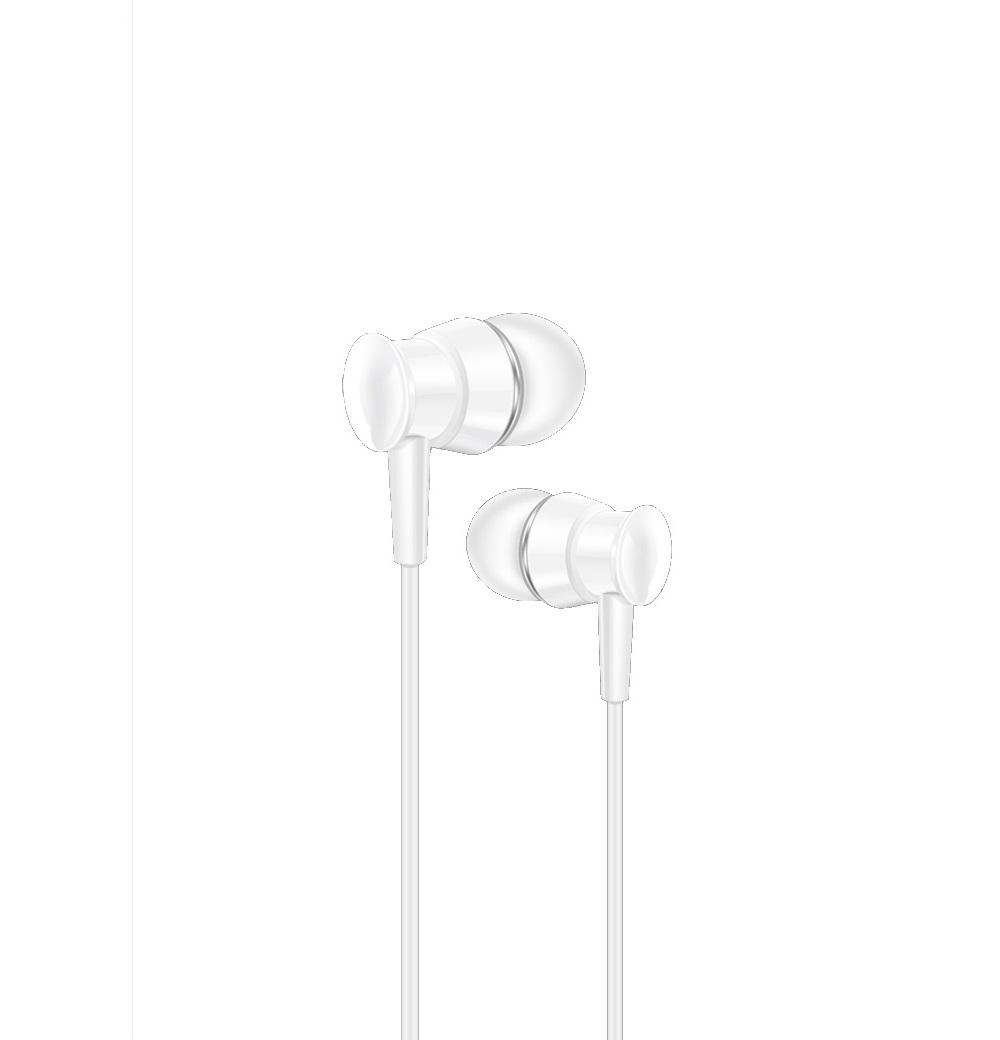 XO wired earphones S25 jack 3,5mm white