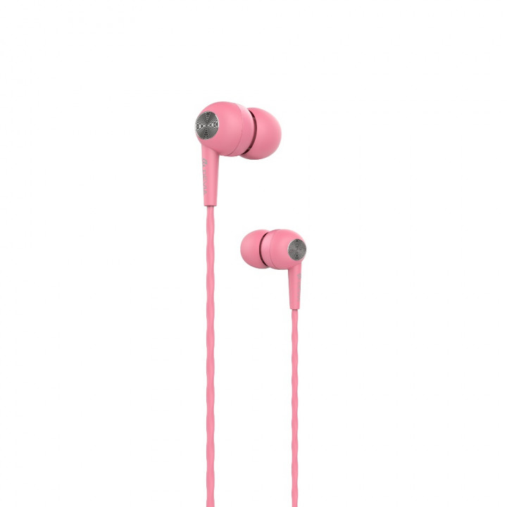 Devia wired earphones Kintone jack 3,5mm pink