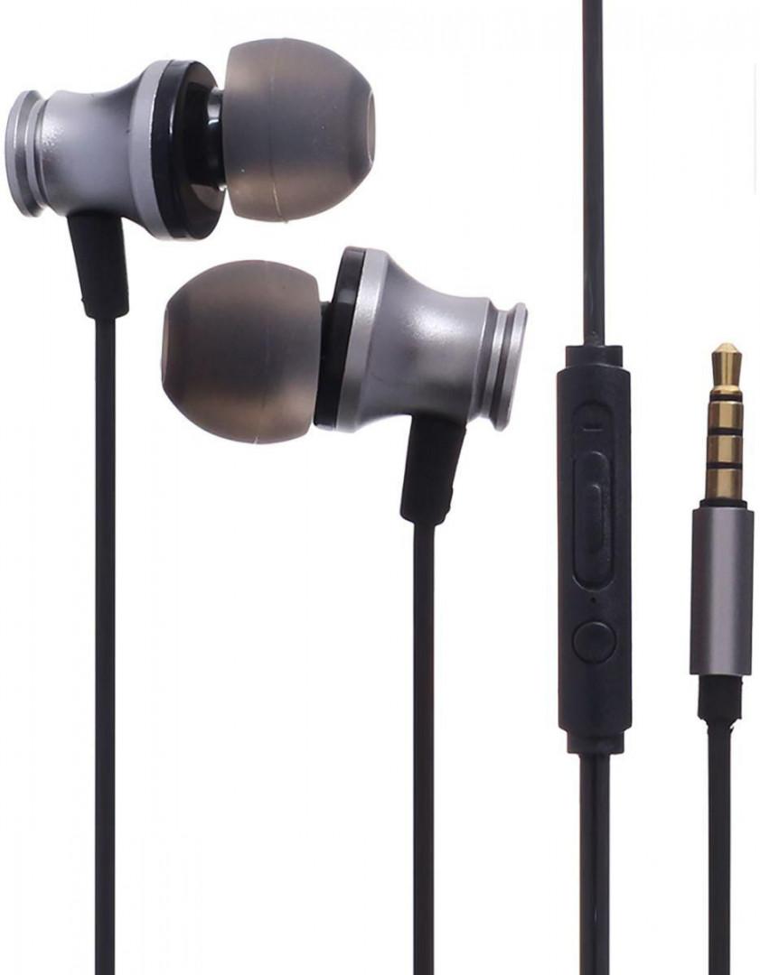 XO WIRED EARPHONES S20 JACK  3,5mm SILVER