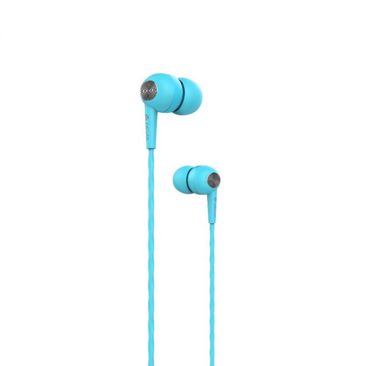 Devia wired earphones Kintone jack 3,5mm blue