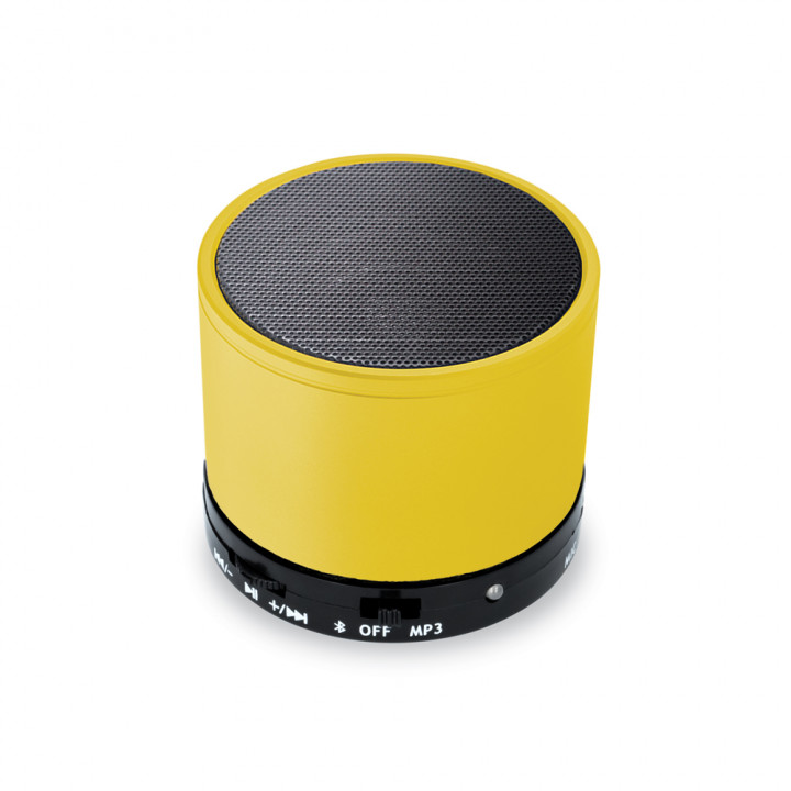 Bluetooth speakercabel AUX<br/>mini-USB cable 3W - Yellow