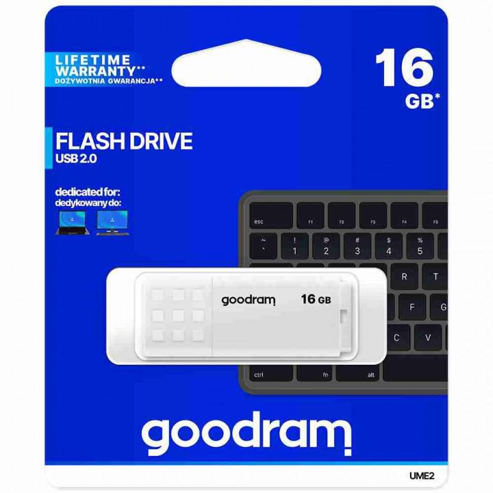 GoodRam pendrive UME2 (16GB | USB 2.0) white
