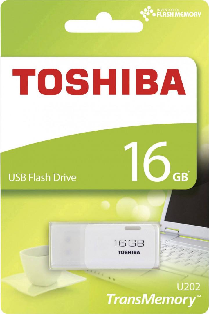 TOSHIBA PENDRIVE 16GB USB2.0 U202 WHITE