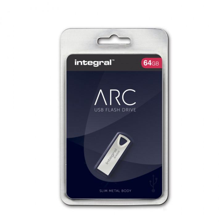 INTEGRAL PENDRIVE ARC 64 GB USB2.0 METAL