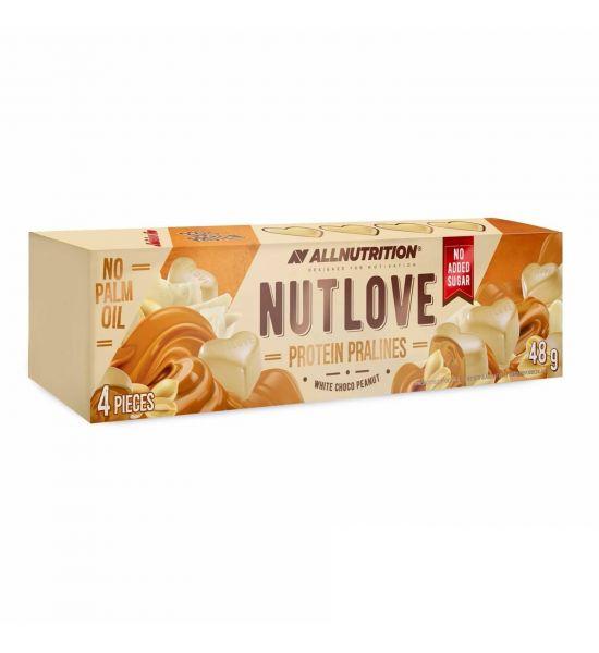 ALLNUTRITION NUTLOVE PROTEIN PRALINES White Choco Peanut 48G
