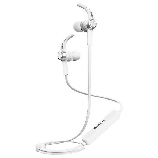 Baseus Earphone Bluetooth Licolor Magnet Silver-White