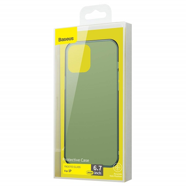 Baseus iPhone 12 Pro Max case Frosted Glass Dark Green